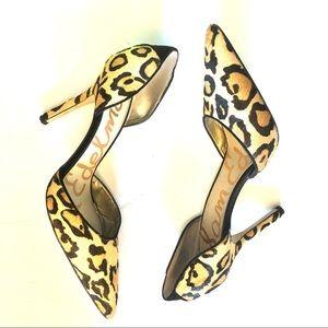 Sam Edelman Cheetah Animal Print Toe Heels Pumps